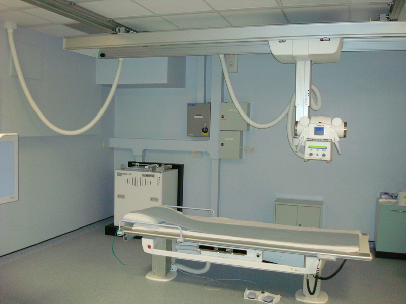 Hospital equipment installation for X ray room design